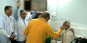 Maharaj Ji visiting JKP hospital